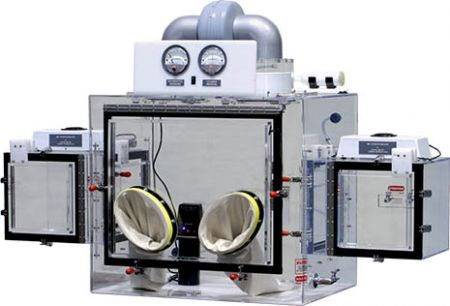 Double HEPA filtered Powder Handling Isolator.